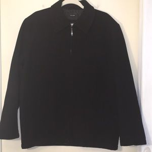 Claiborne Outerwear Wool Zipper Front Coat Small